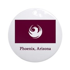 Phoenix AZ Flag Ornament (Round)
