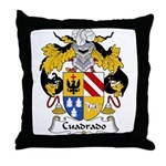 Cuadrado Family Crest Throw Pillow