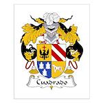 Cuadrado Family Crest Small Poster