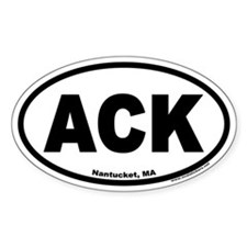 Nantucket ACK Euro Oval Decal