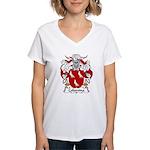 Colomina Family Crest Women's V-Neck T-Shirt