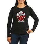 Colomina Family Crest Women's Long Sleeve Dark T-S
