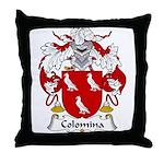Colomina Family Crest Throw Pillow