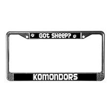 got sheep? Komondor License Plate Frame
