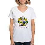 Cerezo Family Crest Women's V-Neck T-Shirt