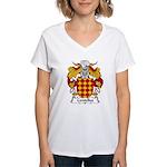 Centelles Family Crest Women's V-Neck T-Shirt