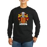 Centelles Family Crest Long Sleeve Dark T-Shirt