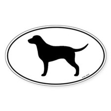 Curly-Coated Retriever Oval Decal