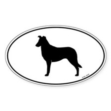 Smooth Collie Oval Silhouette Decal