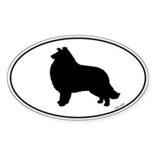 Collie Oval Decal