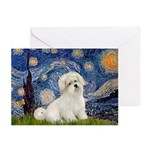 Starry / Coton de Tulear (#7) Greeting Cards (Pk o