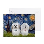 Starry / Coton Pair Greeting Cards (Pk of 20)