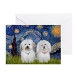 Starry / Coton Pair Greeting Card