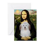 Mona's Coton de Tulear Greeting Cards (Pk of 20)