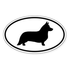 Cardigan Welsh Corgi Oval Decal