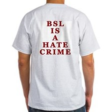 BSL Hate Crime Ash Grey T-Shirt