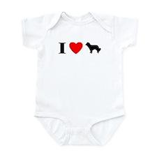 I Love Kooikerhondjes Baby Bodysuit