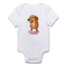 Looking at My Wiener Dachshund Infant Bodysuit