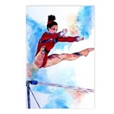 Uneven Bars Gymnastics Postcards (Package of 8)