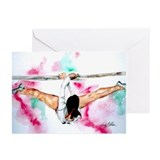 spirit of '76 Gymnastics Greeting Cards (Package o