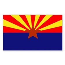 Arizona State Flag Rectangle Decal