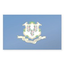 Connecticut State Flag Rectangle Decal
