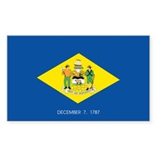 Delaware State Flag Rectangle Decal