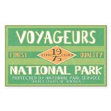 Voyageurs National Park (Retro) Sticker (Rectangul