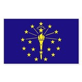 Indiana State Flag Rectangle Decal