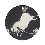 Bucking Horse Ornament (Round)