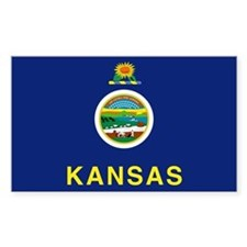 Kansas State Flag Rectangle Decal
