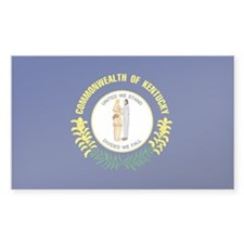 Kentucky State Flag Rectangle Decal