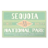 Sequoia National Park (Retro) Sticker (Rectangular