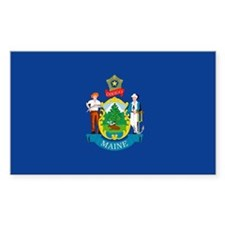 Maine State Flag Rectangle Decal