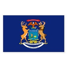 Michigan Flag Rectangle Decal