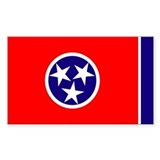 Tennessee Flag Rectangle Bumper Stickers