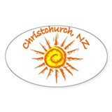 Christchurch, New Zealand Oval Decal