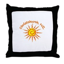 Christchurch, New Zealand Throw Pillow