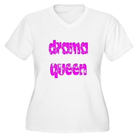 Drama Queen Women's Plus Size V-Neck T-Shirt