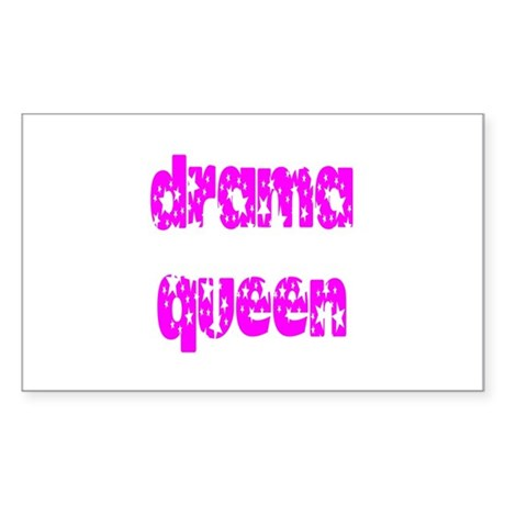 Drama Queen Rectangle Sticker