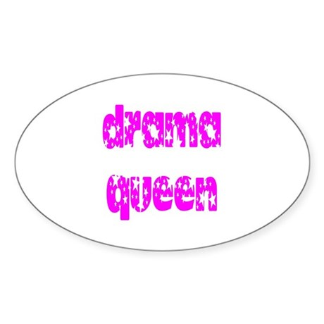 Drama Queen Oval Sticker
