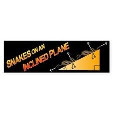 Snakes/Inclined Plane Bumper Bumper Sticker