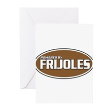 Powered By Frijoles Greeting Cards (Pk of 20)