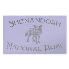 Shenandoah National Park (Fox) Sticker (Rectangula