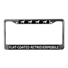 Flat-Coated Retrievermobile License Plate Frame