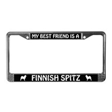 My Best Friend Is A Finnish Spitz License Frame
