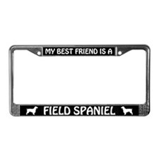 My Best Friend Is A Field Spaniel License Frame