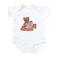 Poppy Loves Me CUTE Bear Infant Bodysuit