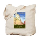 1930s Vintage Zion National Park Tote Bag