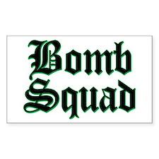 Bomb Squad Rectangle Decal